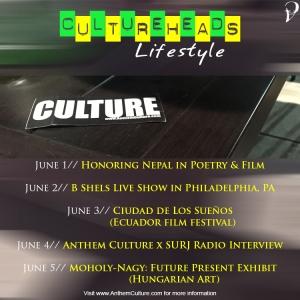 Upcoming Events May 29