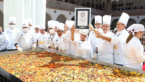 University In Peru Achieves 4th Big Food Record By Cooking Huge Traditional Causa Dish