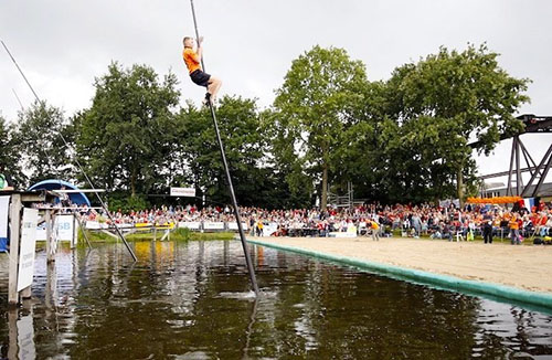 Canal Jumping Is One Of The Netherlands' Oldest Pastimes