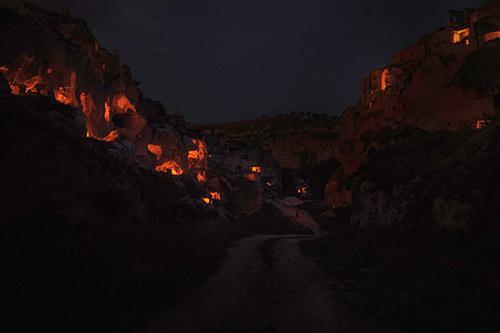 RAAAF's 'Hidden Worlds' Fire Installation Illuminates an Ancient TurkishLandscape