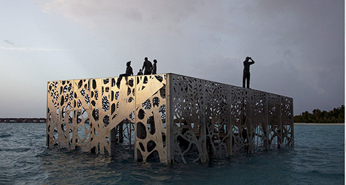 Coralarium, World's First Inter Tidal Art Museum at Fairmont Madives Sirru Fen Fushi