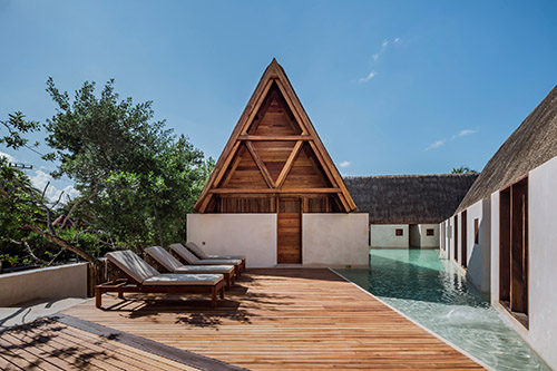 Estudio Macías Peredo Stylizes Mayan Architecture For Punta Caliza Boutique Hotel