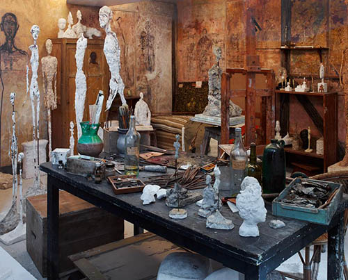 Swiss Artist Giacometti's Studio Brought to Life in Art Deco Paris Mansion