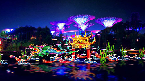 Gardens by the Bay Lights Up Mid-Autumn Festival with Mythical Lantern Displays