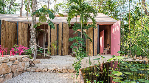 TACO Creates its Own Pink-Toned Architecture Studio on Mexico's Yucatan Peninsula